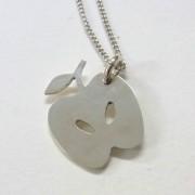 シルバーのりんごペンダント【彫金体験】