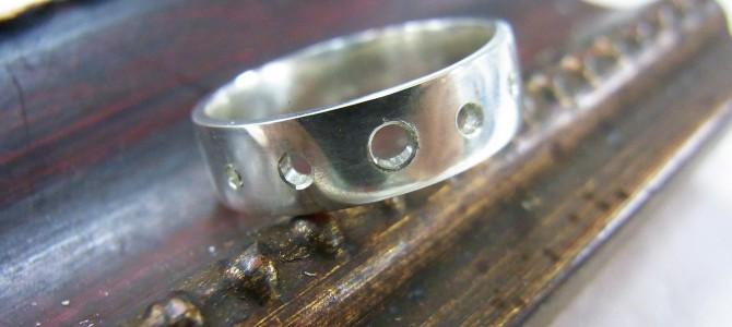 彫金の指輪【彫金教室作品】