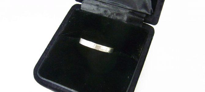 結婚4周年のサプライズ【彫金体験】