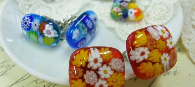 1日体験 人気のイヤリングに色ガラス登場♡