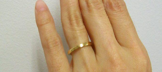 金のリング 【彫金教室】